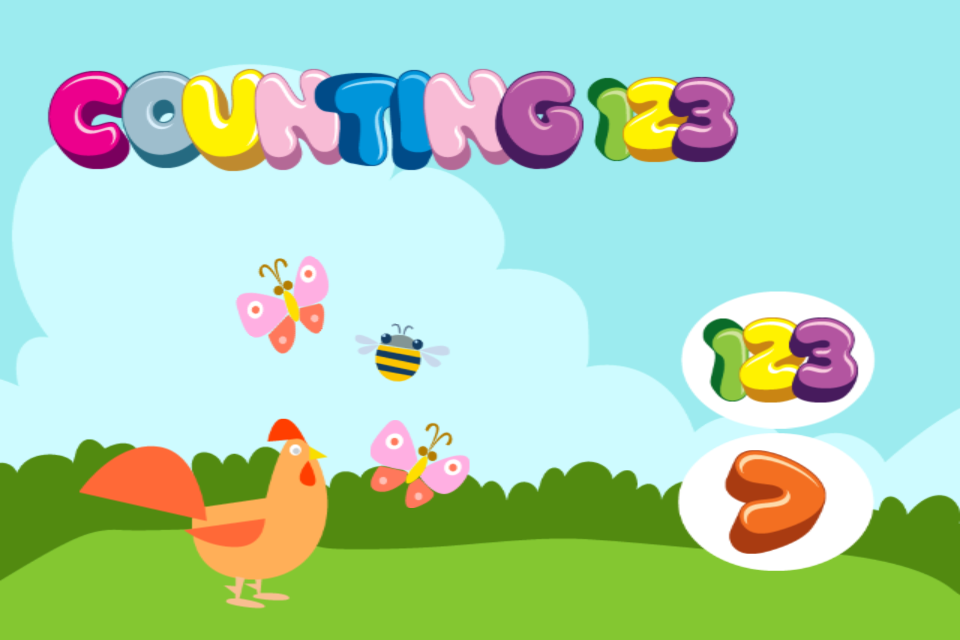 Screenshot Counting 123 – PreSchool Learning